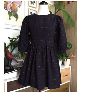Kling Mini Flare Dress Navy with Printed Sunglases